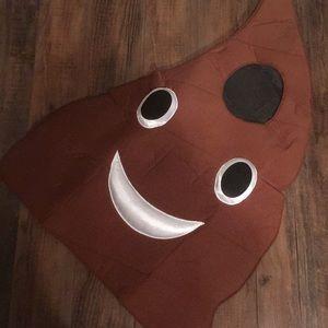 Emoji poo costume. Child one size